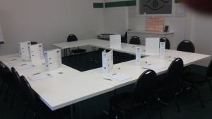 Der kleinere Schulungsraum kurz vor Beginn eines neuen Kurses