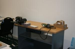 Unsere Lerninsel mit der Werkbank wird vor allem für praktische Unterweisungen genutzt