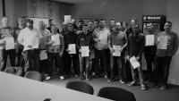Elektrofachkraft für festgelegte Tätigkeiten im März 2018 mit Teilnehmern der Firmen Kaeser Kompressoren, Samvardhana Motherson Innovative Autosystems BV. & Co. KG, technotrans, Fuhrmann und amo-asphalt