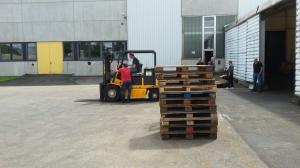 Ausbildung Staplerfahrer bei Zitzmann-Powercast in Stockheim - Praxis