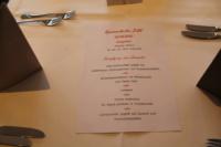 Die Speisenauswahl für die Absolventenfeier im Februar 2020